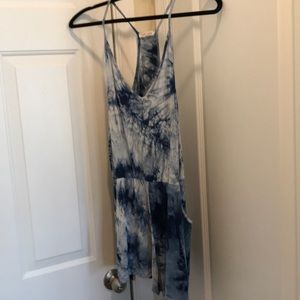 Tie dyed romper shorts